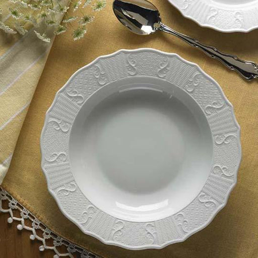 Mount Vernon Prosperity Rim Soup Plate - MOTTAHEDEH & COMPANY, INC - The Shops at Mount Vernon