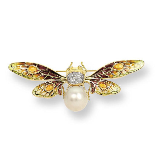 Nicole Barr 18k Gold Bee with Pearl Brooch - The Shops at Mount Vernon - The Shops at Mount Vernon