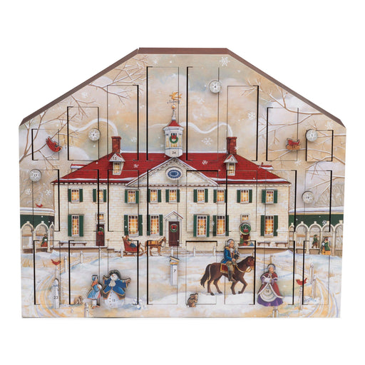 Mount Vernon Wooden Advent Calendar - The Shops at Mount Vernon - The Shops at Mount Vernon