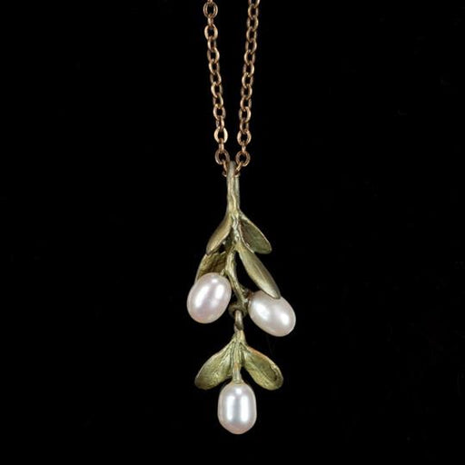 Mount Vernon Boxwood Pendant Necklace - Silver Seasons - The Shops at Mount Vernon