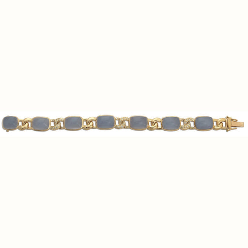 Chalcedony and Diamond Bracelet - SINGHVI JEWELS - The Shops at Mount Vernon