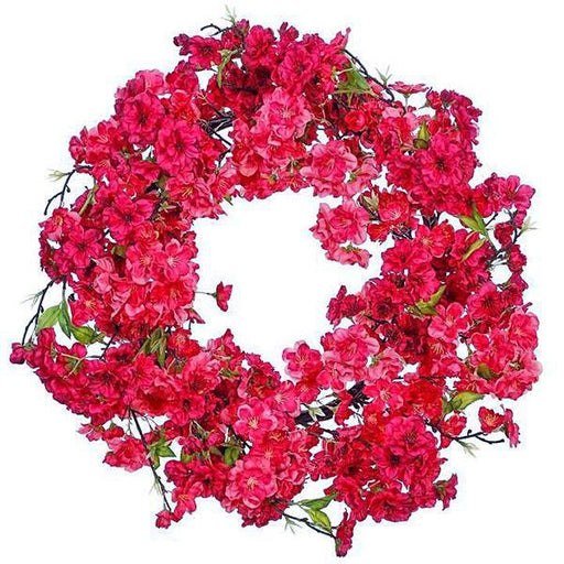 "Cherry Blossom 22"" Wreath - RAZ IMPORTS INC - The Shops at Mount Vernon"