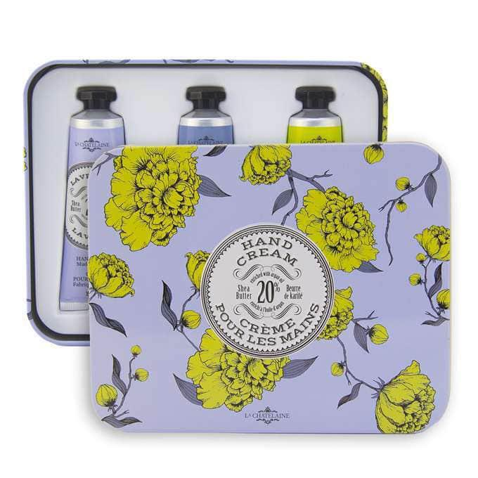 Lavender Hand Cream Trio Tin - La Chatelaine - The Shops at Mount Vernon