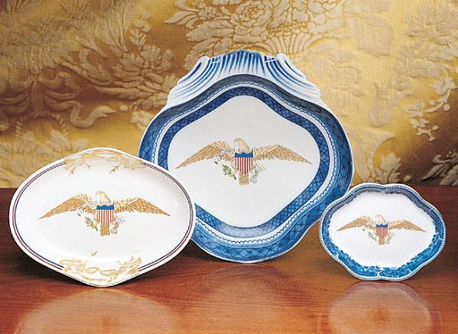 Diplomatic Eagle Oval Dish - MOTTAHEDEH & COMPANY, INC - The Shops at Mount Vernon