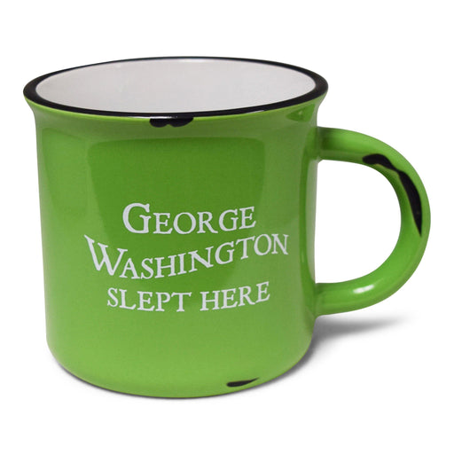 GW Slept Here Mug in Lime Green - CHARLES PRODUCTS INC. - The Shops at Mount Vernon