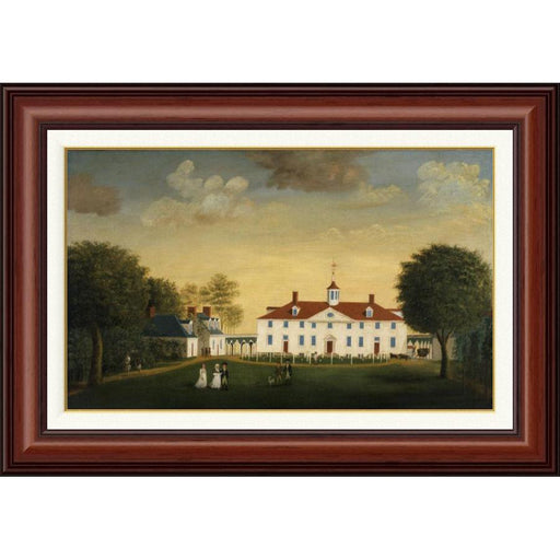 Mount Vernon 1792 West Front in Mahogany Frame - BENTLEY GLOBAL ARTS GROUP - The Shops at Mount Vernon