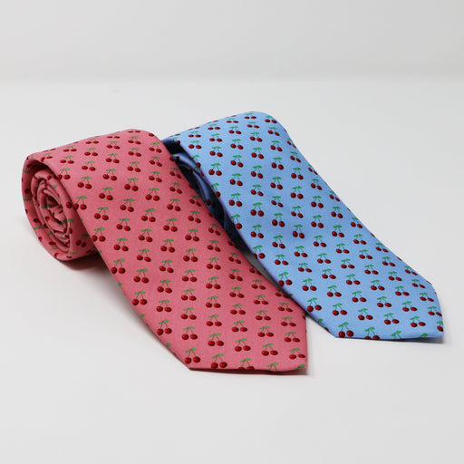 Vineyard Vines Cherry Tie in Blue - The Shops at Mount Vernon - The Shops at Mount Vernon