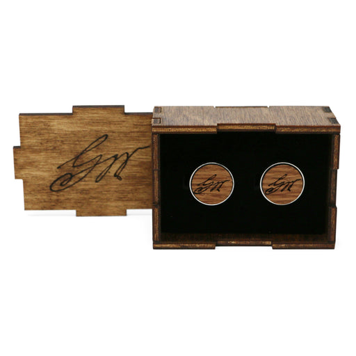 George Washington Wood Cufflinks - The Shops at Mount Vernon - The Shops at Mount Vernon