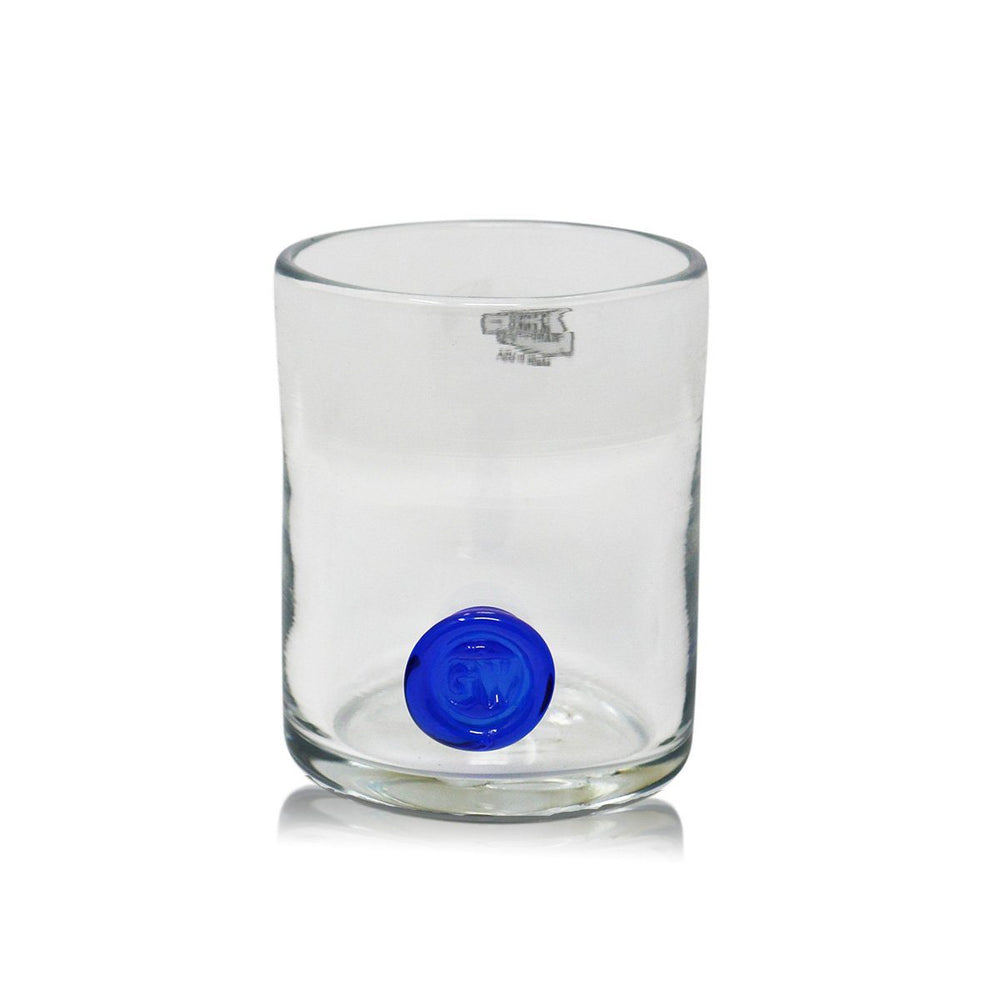GW Rocks Glass with Cobalt Seal - BLENKO GLASS COMPANY - The Shops at Mount Vernon
