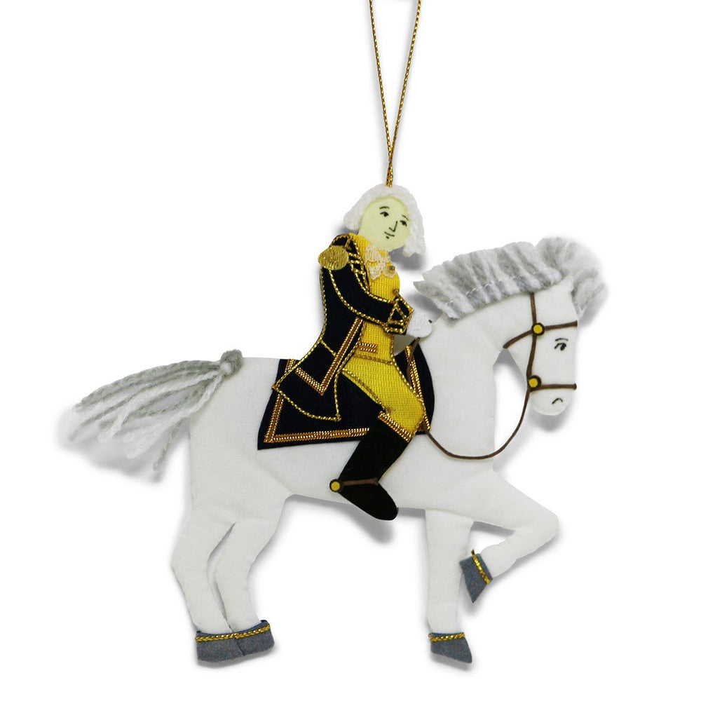 George Washington & Blueskin Ornament - ST NICOLAS LTD. - The Shops at Mount Vernon