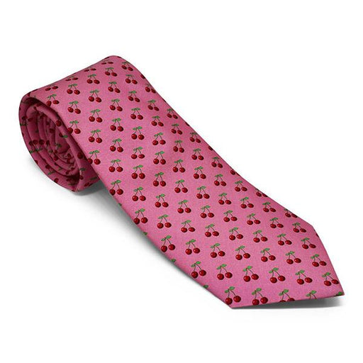 Vineyard Vines Cherry Tie in Pink - The Shops at Mount Vernon - The Shops at Mount Vernon