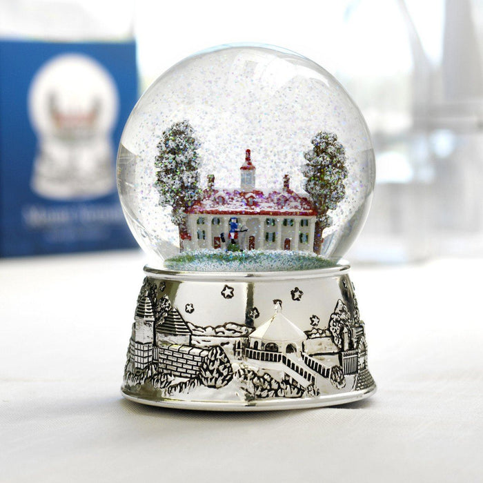 Mount Vernon Musical Snow Globe - The Shops at Mount Vernon - The Shops at Mount Vernon
