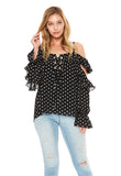 AURELIA TOP (Black)-VT2071