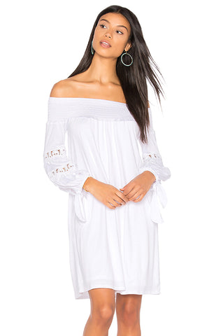 KARISSA OFF THE SHOULDER DRESS (WHITE)-VD1721