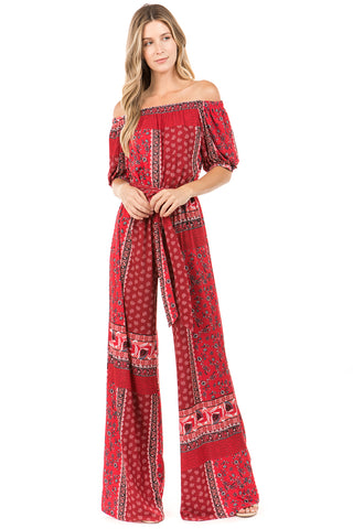 TALLULAH JUMPSUIT (Red)- VD2273