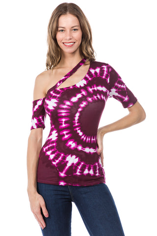 JULLIE BAND TOP (WINE)- VT2575
