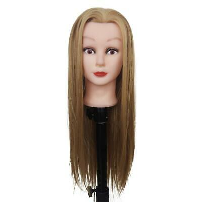 "Training Manikin Head 19"" Female Cosmetology Mannequin Blonde Hair With Clamp"