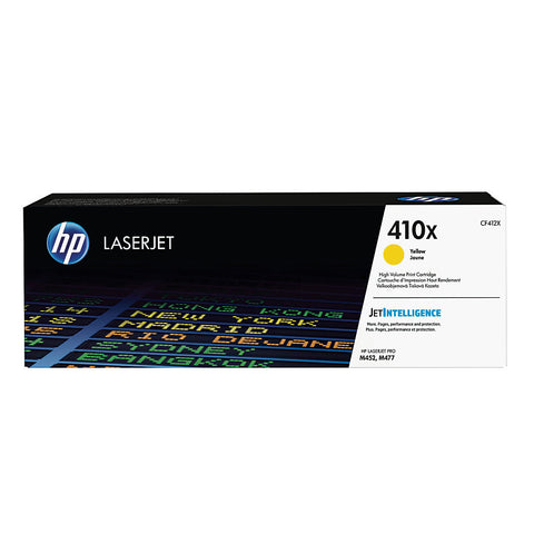 HP 410X (CF412X) Color LaserJet Pro M452 MFP M477 High Yield Yellow Original LaserJet Toner Cartridge (5000 Yield)