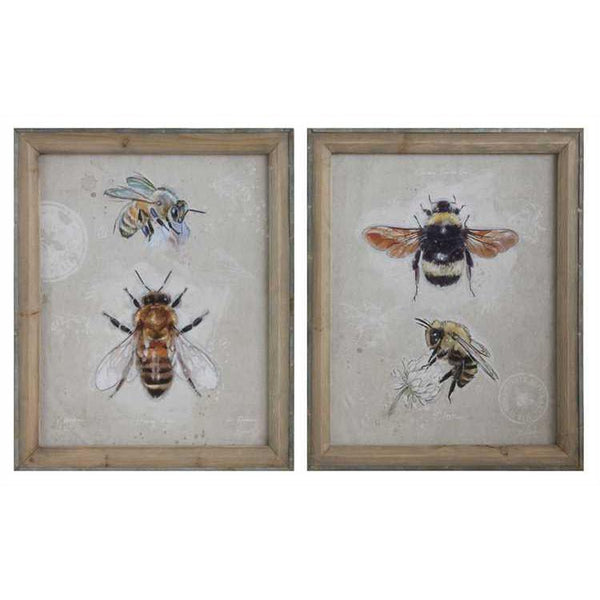 Canvas Bee Prints - City Home - Portland Oregon - Furniture and Home Decor