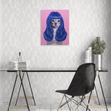 Celebrity Animal Canvas Wall Art - Gurl - City Home - Portland Oregon - Furniture and Home Decor