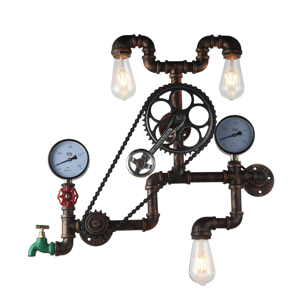 Luminaire Industrial Pipe Wall Light - City Home - Portland Oregon - Furniture and Home Decor