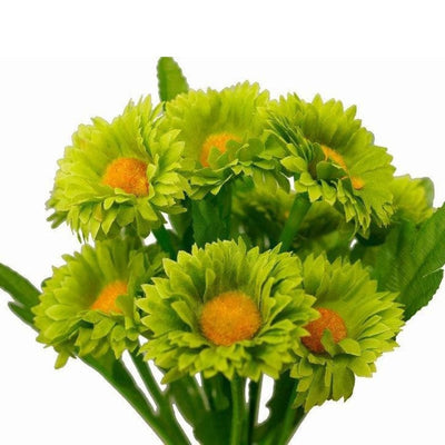 108 Wholesale Artificial Silk Daisy Flowers Wedding Vase Centerpiece Decor - Lime