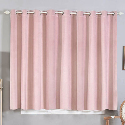 Blush Blackout Curtains | 2 Packs | 52 x 64 Inch Long Curtains | Room Darkening Curtains With Grommets