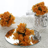 144 Orange Poly Rose Buds Wedding Bouquet Flowers Decoration