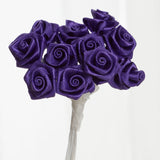 144 PCS Boutonniere Purple Rosebud Flower Applique DIY Brooch