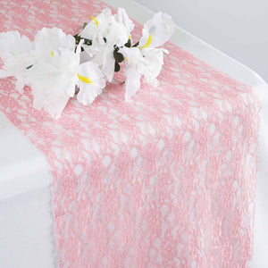 Floral Lace Runner - Rose Quartz