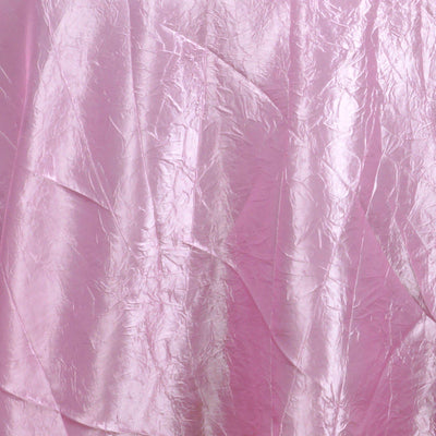 "Pink 117"" Crinkle Taffeta Round Tablecloth"