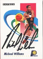 Michael Williams Indiana Pacers 1991 Skybox Autographed Card. This item comes with a certificate of authenticity from Autograph-Sports. PSM-Powers Sports Memorabilia