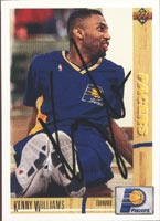 Kenny Williams Indiana Pacers 1991 Upper Deck Autographed Card - Rookie Card. This item comes with a certificate of authenticity from Autograph-Sports. PSM-Powers Sports Memorabilia