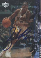 Jalen Rose Indiana Pacers 2001 Upper Deck Encore Foil Autographed Card - Hologram, card slightly scratched, autograph is clear. This item comes with a certificate of authenticity from Autograph-Sports. PSM-Powers Sports Memorabilia