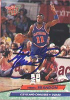Terrell Brandon Cleveland Cavaliers 1993 Fleer Ultra Autographed Card. This item comes with a certificate of authenticity from Autograph-Sports. PSM-Powers Sports Memorabilia
