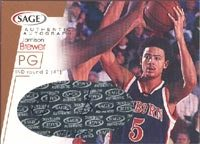 Jamison Brewer Indiana Pacers 2001 Sage Authentic Autograph Autographed Card - Certified Autograph - Rookie Card. This item comes with a certificate of authenticity from Autograph-Sports. PSM-Powers Sports Memorabilia
