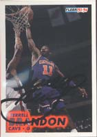Terrell Brandon Cleveland Cavaliers 1994 Fleer Autographed Card. This item comes with a certificate of authenticity from Autograph-Sports. PSM-Powers Sports Memorabilia