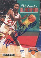 Rolando Blackmon New York Knicks 1993 Skybox Autographed Card. This item comes with a certificate of authenticity from Autograph-Sports. PSM-Powers Sports Memorabilia