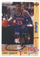 Terrell Brandon Cleveland Cavaliers 1992 Upper Deck Top Prospects Autographed Card - Rookie Card. This item comes with a certificate of authenticity from Autograph-Sports. PSM-Powers Sports Memorabilia