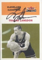 Trajan Langdon Cleveland Cavaliers 2001 Fleer Platinum Autographed Card. This item comes with a certificate of authenticity from Autograph-Sports. PSM-Powers Sports Memorabilia