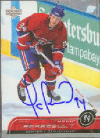 Yanic Perreault Montreal Canadiens 2003 Upper Deck Autographed Card - Nice Card. This item comes with a certificate of authenticity from Autograph-Sports. PSM-Powers Sports Memorabilia