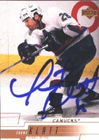 Trent Klatt Vancouver Canucks 2000 Upper Deck Autographed Card. This item comes with a certificate of authenticity from Autograph-Sports. PSM-Powers Sports Memorabilia