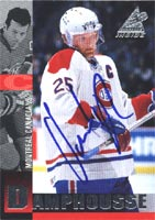Vincent Damphousse Montreal Canadiens 1997 Pinnacle Inside Autographed Card. This item comes with a certificate of authenticity from Autograph-Sports. PSM-Powers Sports Memorabilia