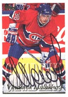 Vladimir Malakhov Montreal Canadiens 1995 Topps Autographed Card. This item comes with a certificate of authenticity from Autograph-Sports. PSM-Powers Sports Memorabilia