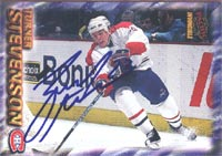 Turner Stevenson Montreal Canadiens 1997 Pacific Invincible Autographed Card. This item comes with a certificate of authenticity from Autograph-Sports. PSM-Powers Sports Memorabilia