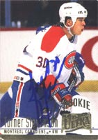 Turner Stevenson Montreal Canadiens 1995 Fleer Ultra Rookie Autographed Card - Rookie Card. This item comes with a certificate of authenticity from Autograph-Sports. PSM-Powers Sports Memorabilia