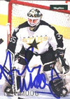 Andy Moog Dallas Stars 1996 Skybox Impact Autographed Card. This item comes with a certificate of authenticity from Autograph-Sports. PSM-Powers Sports Memorabilia
