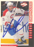 Vincent Damphousse Montreal Canadiens 1997 Score Autographed Card. This item comes with a certificate of authenticity from Autograph-Sports. PSM-Powers Sports Memorabilia