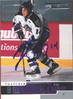 Thatcher Bell Rimouski Oceanic - Vancouver Canucks 2000 Upper Deck Prospects Autographed Card - Rookie Card. This item comes with a certificate of authenticity from Autograph-Sports. PSM-Powers Sports Memorabilia