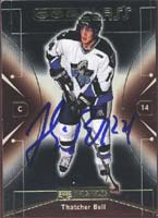 Thatcher Bell Rimouski Oceanic - Vancouver Canucks 2000 Upper Deck Prospects CHL Class Autographed Card - Rookie Card. This item comes with a certificate of authenticity from Autograph-Sports. PSM-Powers Sports Memorabilia